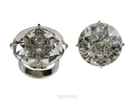 Купить Кольцо Jenavi Коллекция Подиум Изыск, цвет: серебряный, белый. h1983000. Размер 20