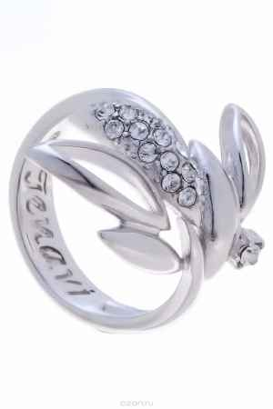 Купить Кольцо Jenavi Коллекция Примавера Кофер, цвет: серебряный, белый. k016f000. Размер 20