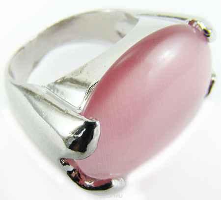 Купить Кольцо Taya, цвет: серебряный, розовый. Размер 19. T-B-8522