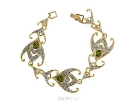 Купить Браслет Jenavi Коллекция Жар-птица Агами, цвет: золотой, зеленый. e787q430. Размер 18