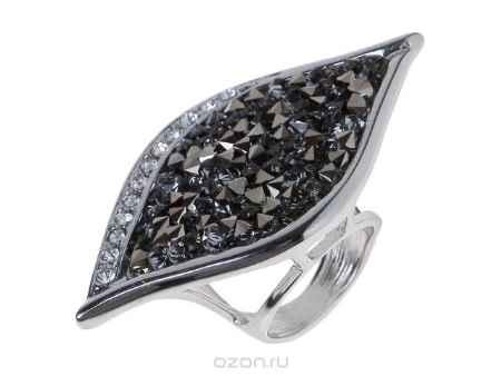 Купить Кольцо Jenavi Коллекция Шик Ангелика, цвет: серебряный, серый. j334f066. Размер 17