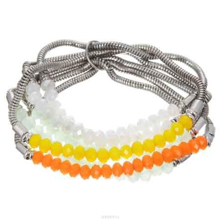 Купить Браслет Taya, цвет: белый, зеленый, оранжевый, желтый. T-B-8293-BRAC-MULTI