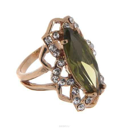 Купить Кольцо Taya, цвет: зеленый, золотистый. Размер 16. T-B-8765