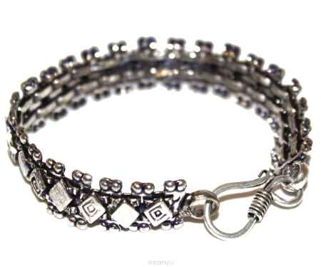 Купить Браслет металл, серебряный Ethnica, цвет: серебряный. 228050