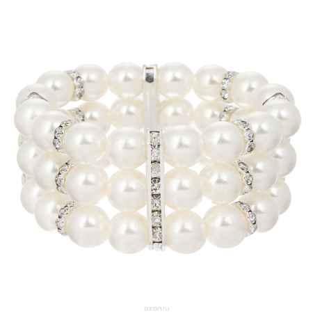 Купить Браслет Taya, цвет: серебристый, белый. T-B-8768-BRAC-SL.WHITE