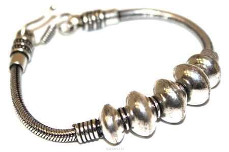 Купить Браслет металл, серебряный Ethnica, цвет: серебряный. 238085