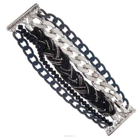 Купить Браслет Taya, цвет: черный, серый. T-B-8281-BRAC-BLACK