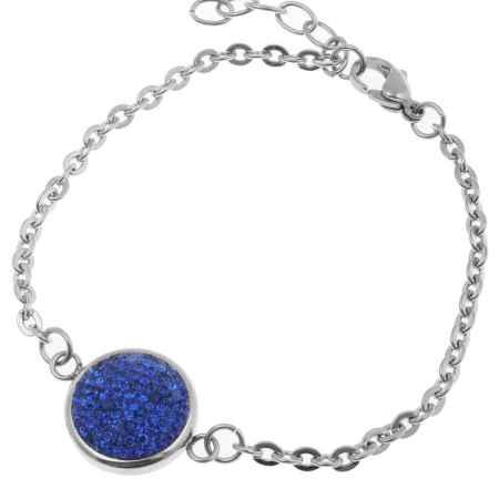 Купить Браслет Happy Garnets, цвет: серебряный, синий. SD0146