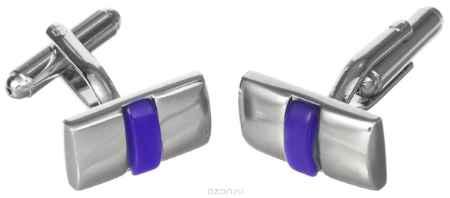 Купить Запонки Mitya Veselkov, цвет: серебряный, синий. ZAP-235