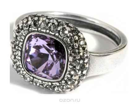 Купить Кольцо Jenavi Коллекция Милан Рашель, цвет: серебряный, фиолетовый. a5743050. Размер 18