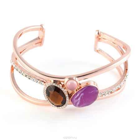 Купить Браслет Selena Medea, цвет: коричневый, светло-розовый, сиреневый. 40078530