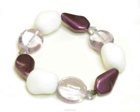 Купить Браслет Bohemia Style, цвет: белый, фиолетовый, прозрачный. 165 5117 00