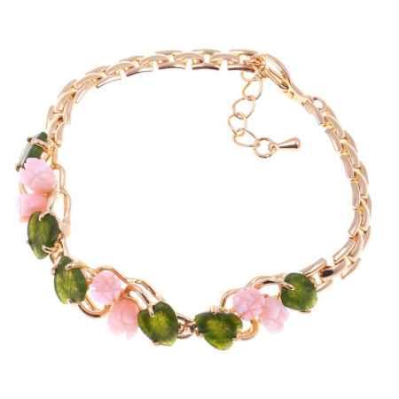 Купить Браслет Migura, цвет: золотой, зеленый, персиковый. LOMD0069