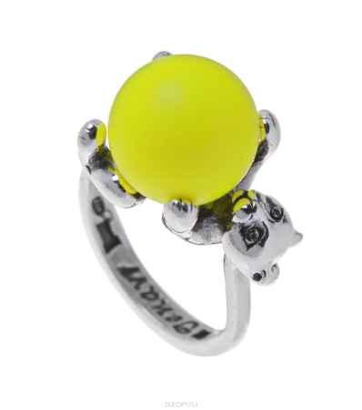 Купить Кольцо Jenavi Коллекция Кошки-Мышки Альда, цвет: серебряный, желтый. m52030h2. Размер 20