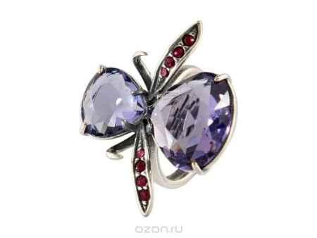Купить Кольцо Jenavi Коллекция Королева ночи Диса, цвет: серебряный, мультиколор. j1173070. Размер б/р