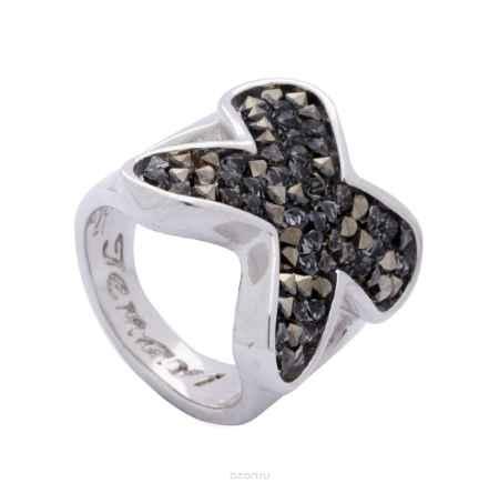 Купить Кольцо Jenavi Коллекция Квазар Сетус, цвет: серебряный, серый. j942f066. Размер 20
