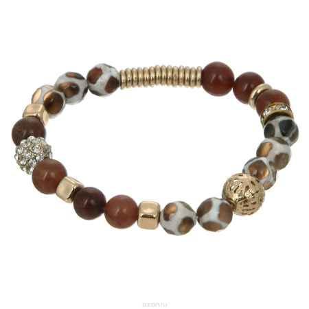 Купить Браслет Taya, цвет: золотистый, коричневый. T-B-5560-BRAC-GL.BROWN