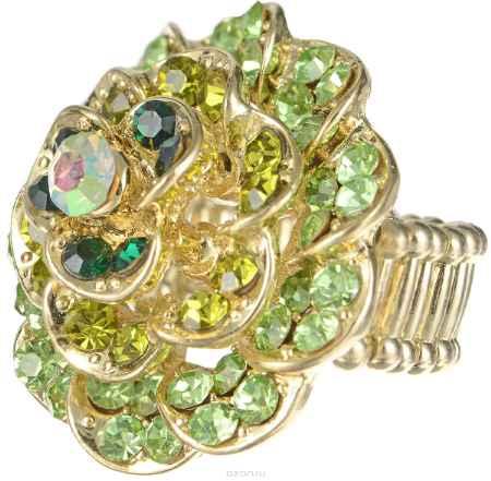 Купить Кольцо Taya, цвет: золотой, зеленый. T-B-7315