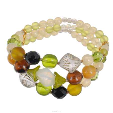 Купить Браслет Avgad, цвет: бежевый, черный, оливковый, коричневый. BR77KL101