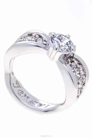 Купить Кольцо Jenavi Коллекция Teona Яльба, цвет: серебряный, белый. f425f0a0. Размер 20