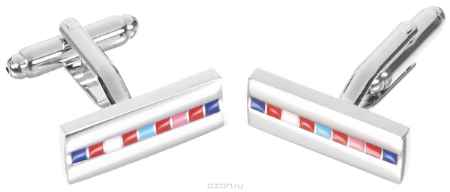 Купить Запонки Mitya Veselkov, цвет: серебряный, мультицвет. ZAP-212