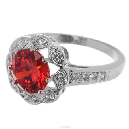Купить Кольцо Taya, цвет: красный, серебристый. Размер 16. T-B-4857