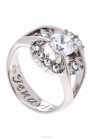 Купить Кольцо Jenavi Коллекция Teona Фрате, цвет: серебряный, белый. f423f0a0. Размер 19