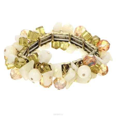 Купить Браслет Taya, цвет: слоновая кость, оливковый. T-B-8237-BRAC-MULTI