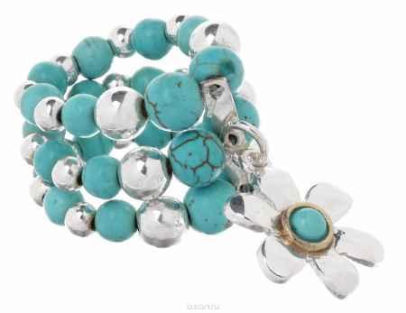 Купить Кольцо Avgad, цвет: серебристый, бирюзовый. EA178JW268