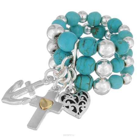 Купить Кольцо Avgad, цвет: серебристый, бирюзовый. EA178JW173
