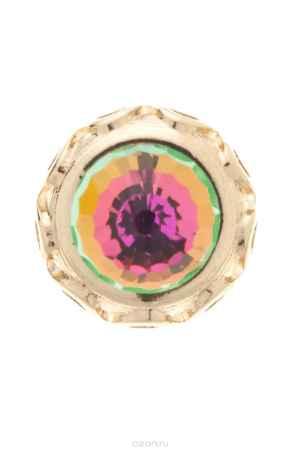 Купить Накладка на кольцо-основу Jenavi Коллекция Ротор Ксавар, цвет: золотой, зеленый. k187pr31. Размер 1