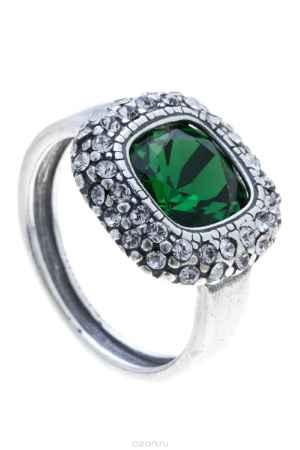 Купить Кольцо Jenavi Коллекция Милан Рашель, цвет: серебряный, зеленый. a5743032. Размер 18