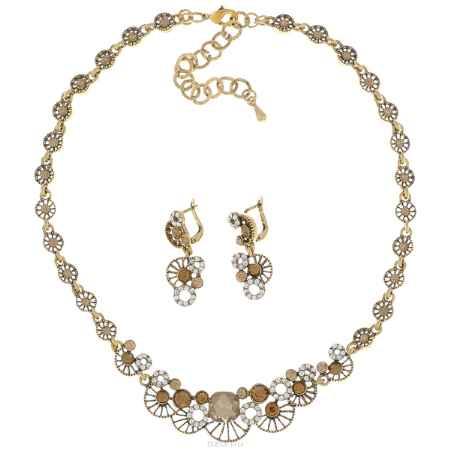 Купить Комплект украшений Taya: колье, серьги, цвет: золотистый. T-B-9521