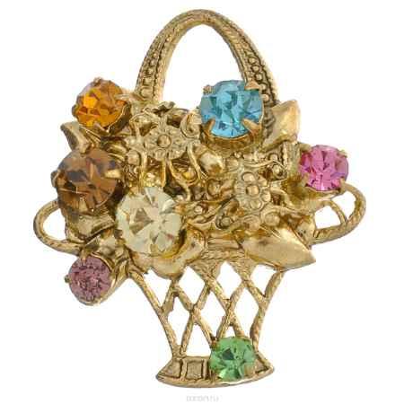 Купить Брошь Avgad, цвет: золотистый, розовый, голубой. EA178JW110