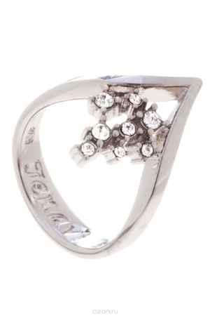 Купить Кольцо Jenavi Коллекция Constanta Клауза, цвет: серебряный, белый. f489f000. Размер 19