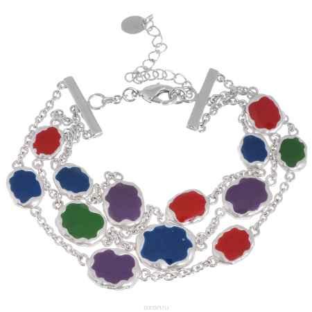 Купить Браслет Taya, цвет: серебристый, мультиколор. T-B-4611