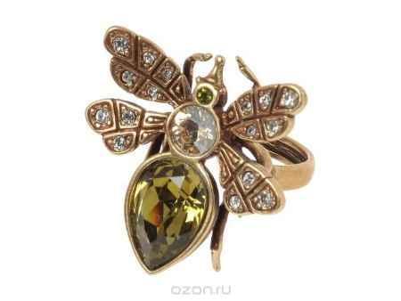 Купить Кольцо Jenavi Коллекция Эскарбахо Це-Це, цвет: бронзовый, зеленый. h621w033. Размер 18