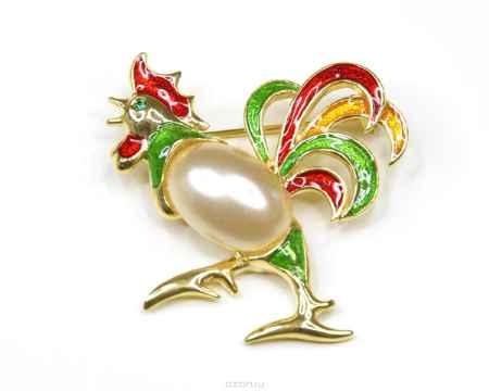 Купить Брошь Bohemia Style, цвет: красный, желтый, светло-зеленый. 7061 1141 02
