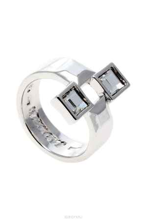 Купить Кольцо Jenavi Коллекция Quadro Квадре, цвет: серебряный, белый. r842f000. Размер 19