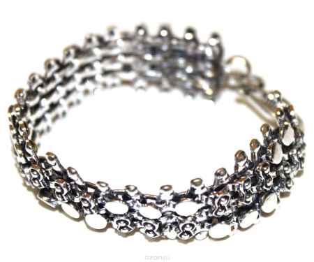 Купить Браслет металл, серебряный Ethnica, цвет: серебряный. 233060