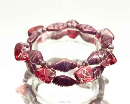 Купить Браслет Bohemia Style, цвет: фиолетовый, коралловый. 165 4595 00