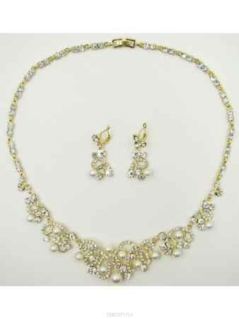 Купить Набор Taya: колье, серьги, цвет: золотистый. T-B-9524