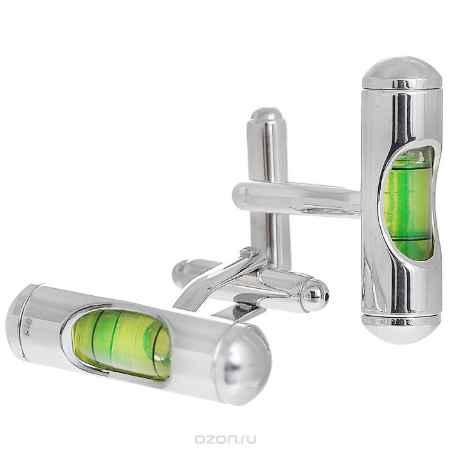 Купить Запонки Цилиндр зеленый. ZAP-076
