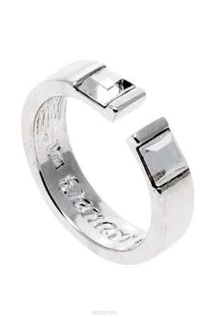 Купить Кольцо Jenavi Коллекция Quadro Тайвутус, цвет: серебряный, белый. r837f000. Размер 19
