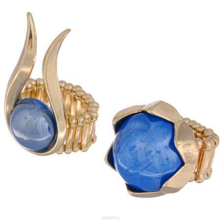 Купить Кольцо Avgad, цвет: золотистый, синий. EA178JW126