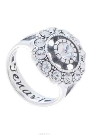 Купить Кольцо Jenavi Коллекция Marella Илфута, цвет: серебряный, белый. k0093000. Размер 19