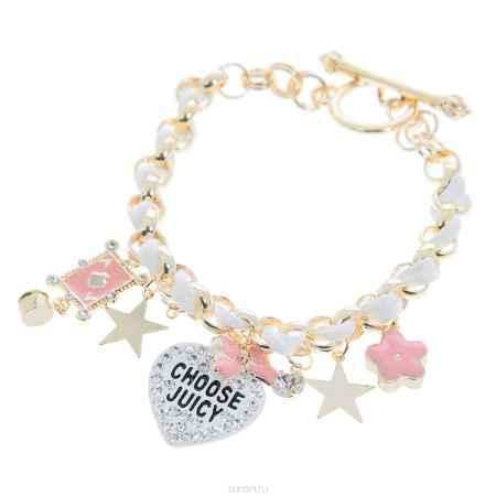 Купить Браслет Happy Charms Family, цвет: белый, золотистый, розовый. NO0732