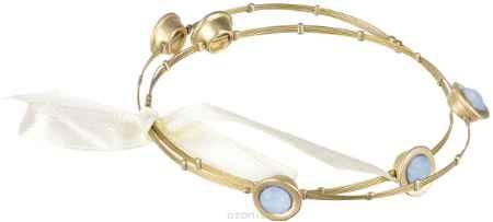 Купить Браслет Taya, цвет: золотистый, голубой. T-B-1546
