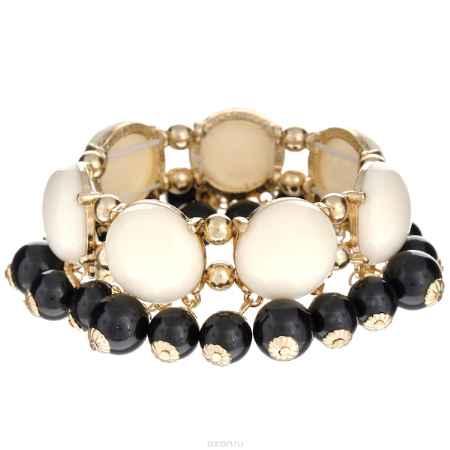 Купить Браслет Taya, цвет: золотистый, черный, белый. T-B-6277
