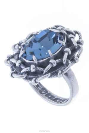 Купить Кольцо Jenavi Коллекция Форсаж Эланта, цвет: серебряный, синий. h0453044. Размер 19